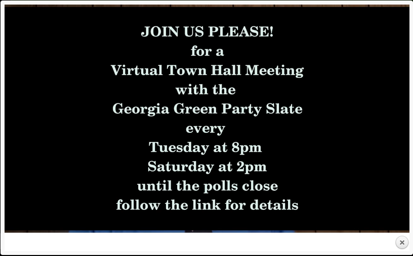 Cooper Campaign for the Soul of America, along with John Fortuin, Green Party candidate for the U.S. Senate invite you to a virtual town hall meeting